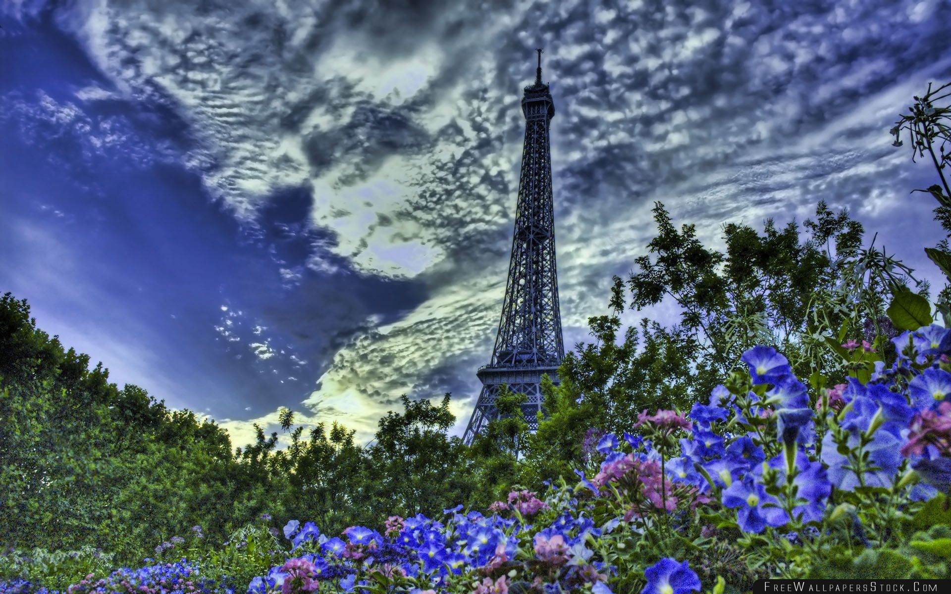 Download Free Wallpaper Tower Eiffel Hdr