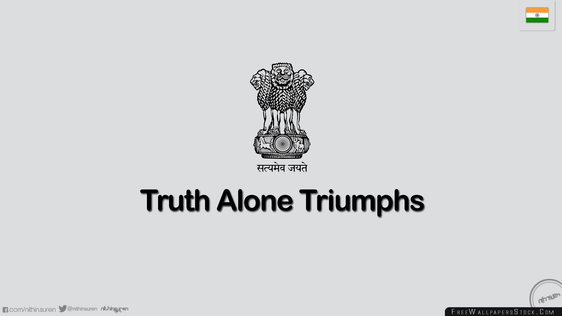 Download Free Wallpaper Truth Alone Triumphs Nithinsuren