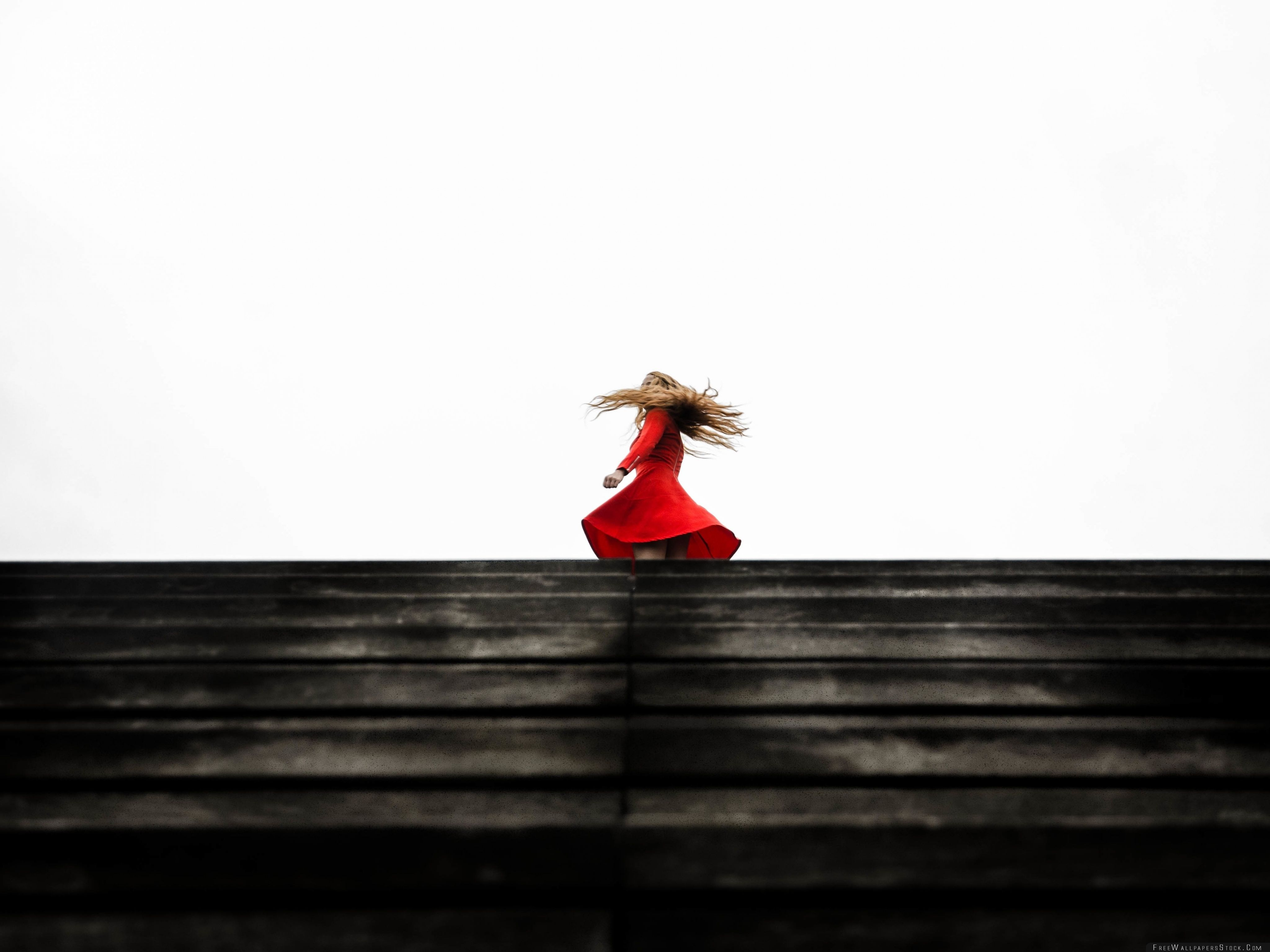 Download Free Wallpaper Twirling   Red Dress