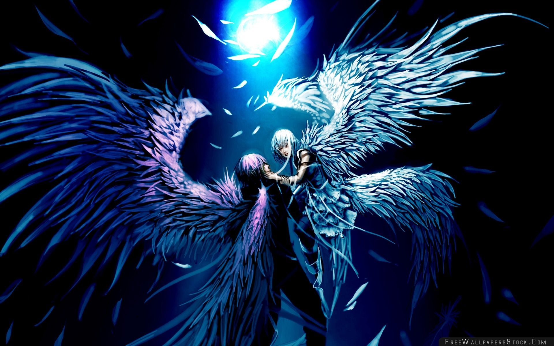Download Free Wallpaper Two Angels Love Anime