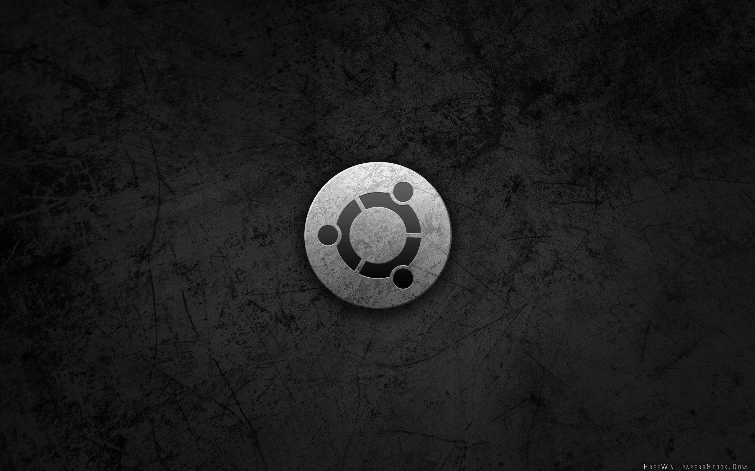 Download Free Wallpaper Ubuntu Metal Style Logo