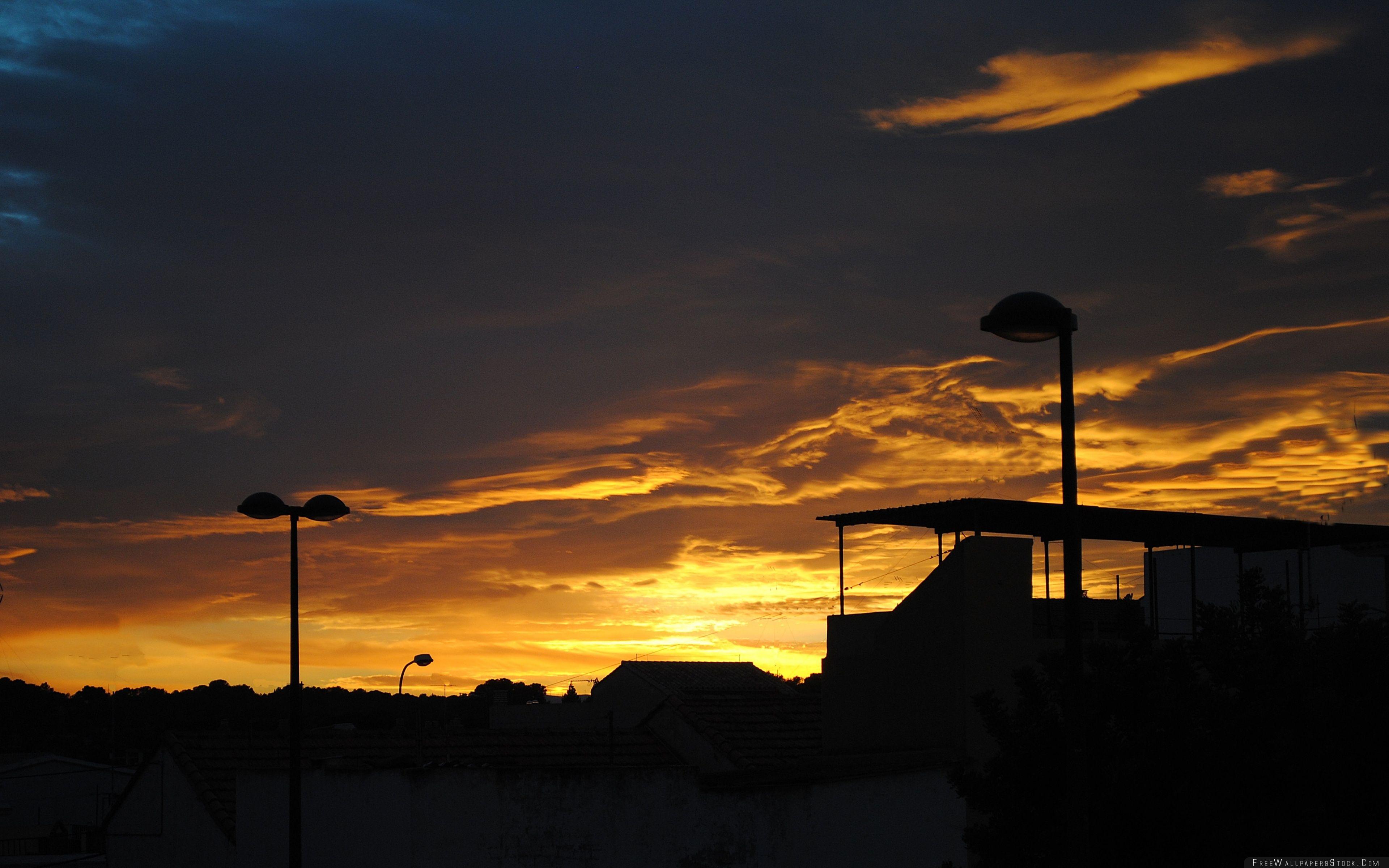 Download Free Wallpaper Village Sunset