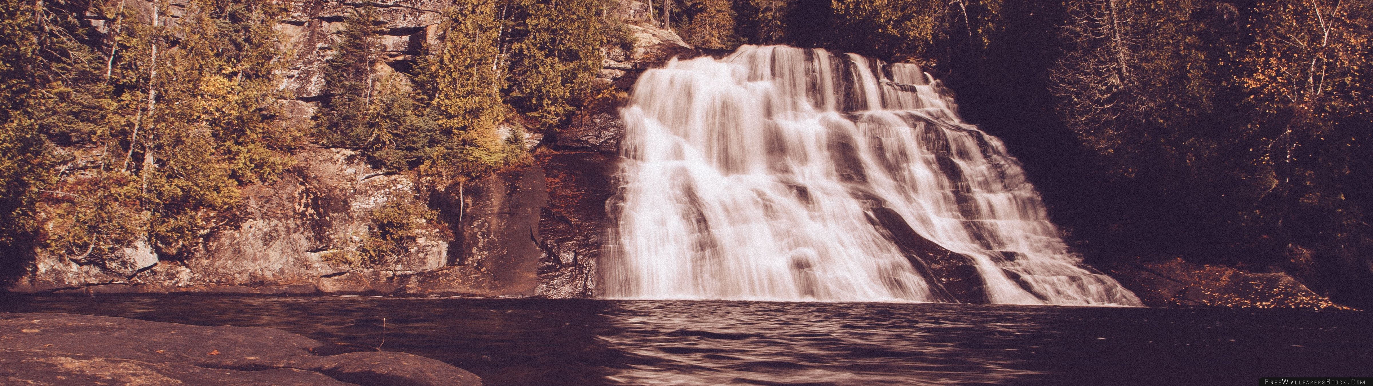 Download Free Wallpaper Vintage Waterfall Forest