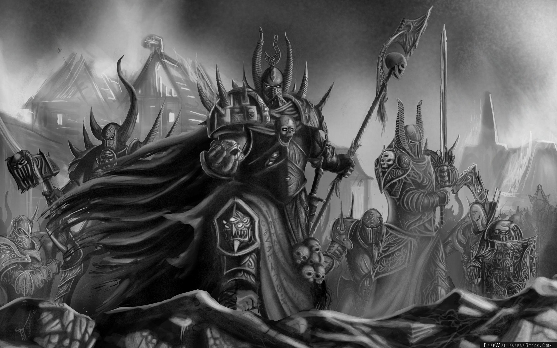 Download Free Wallpaper Warhammer Black And White Art