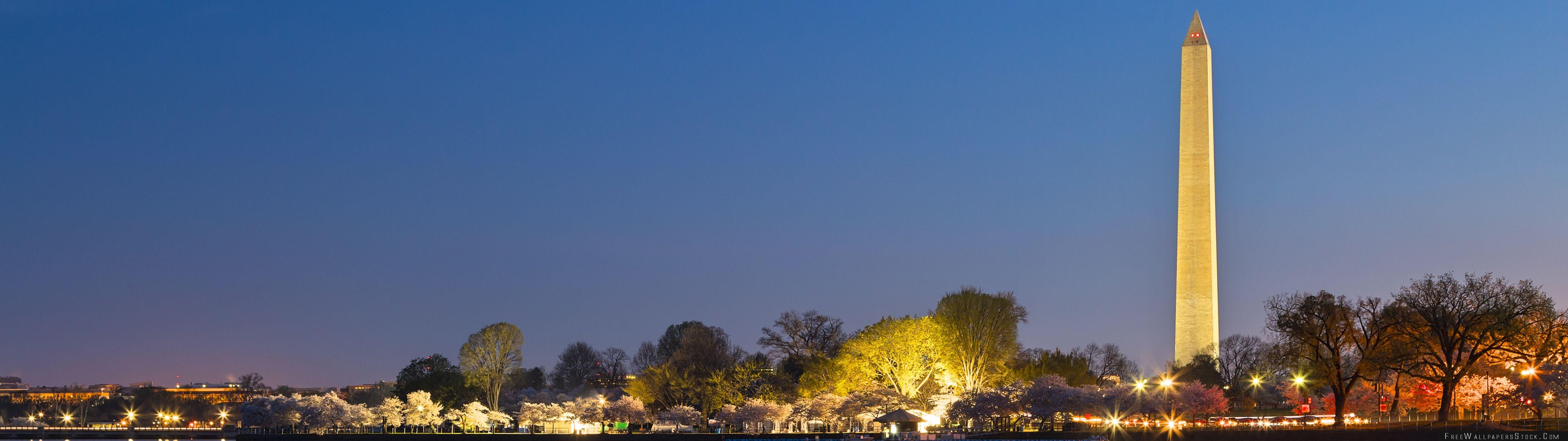 Download Free Wallpaper Washington   Memorials Night