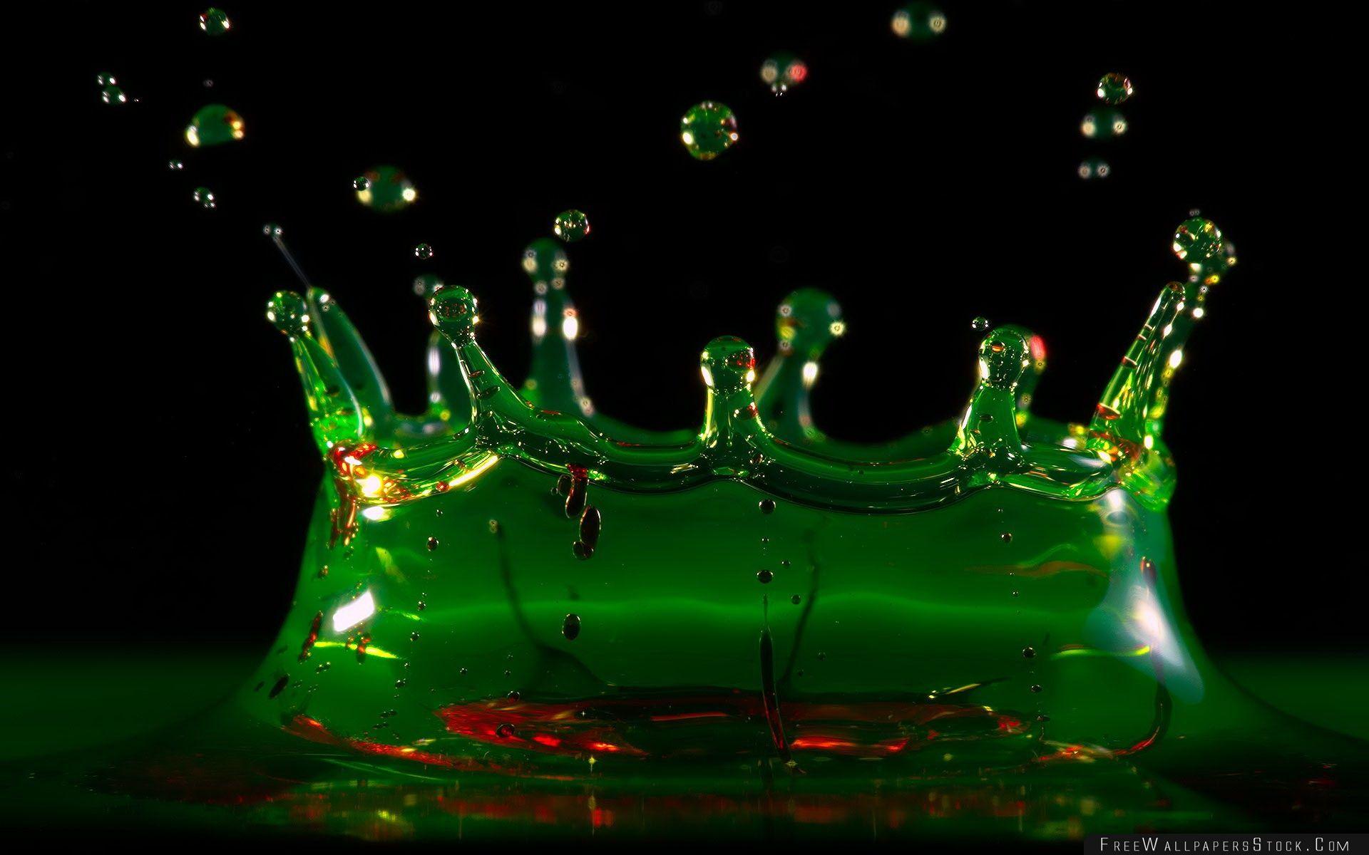 Download Free Wallpaper Water Splash Green