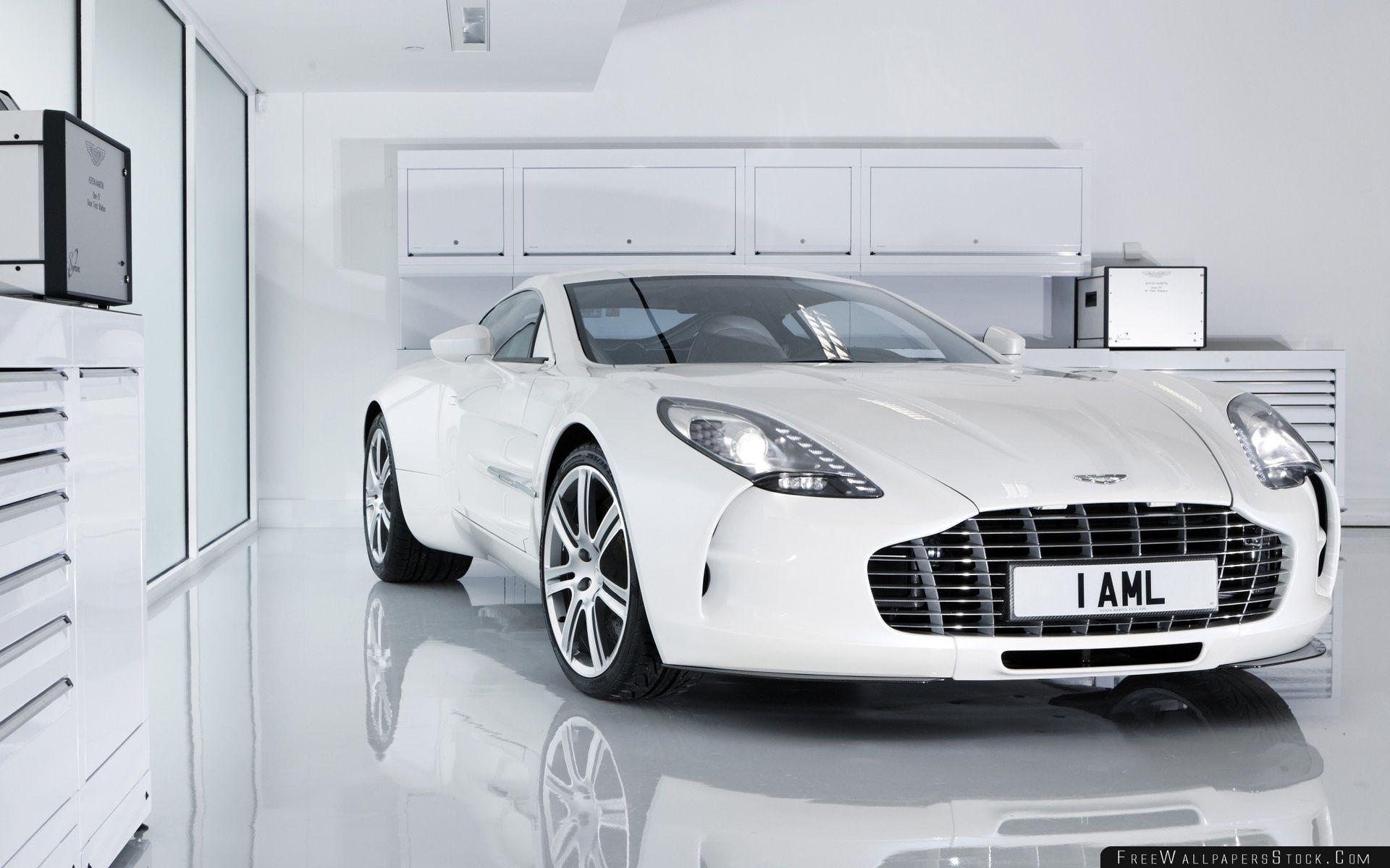 Download Free Wallpaper White Aston Martin One