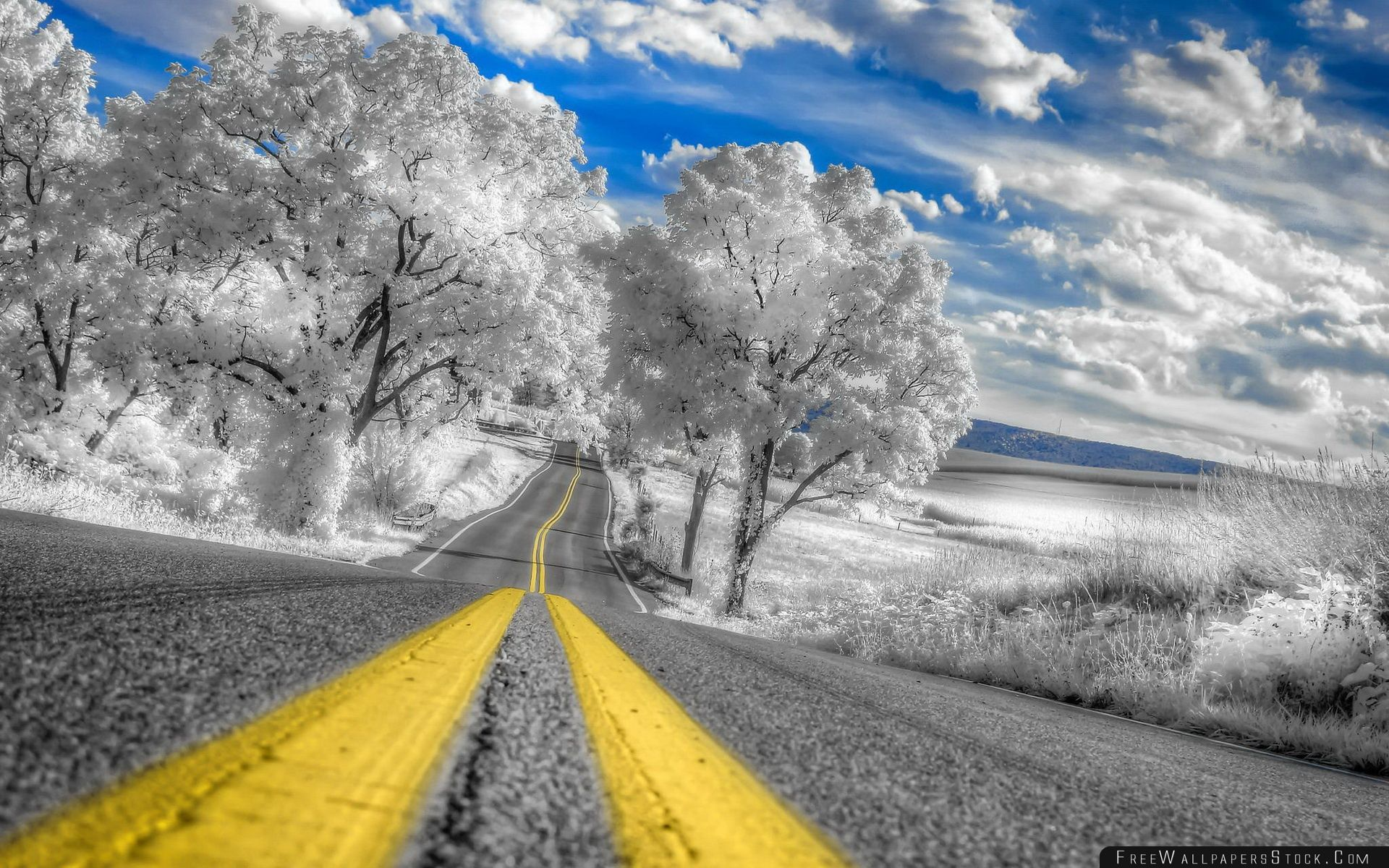 Download Free Wallpaper White Infrared Pennsylvania Landscape