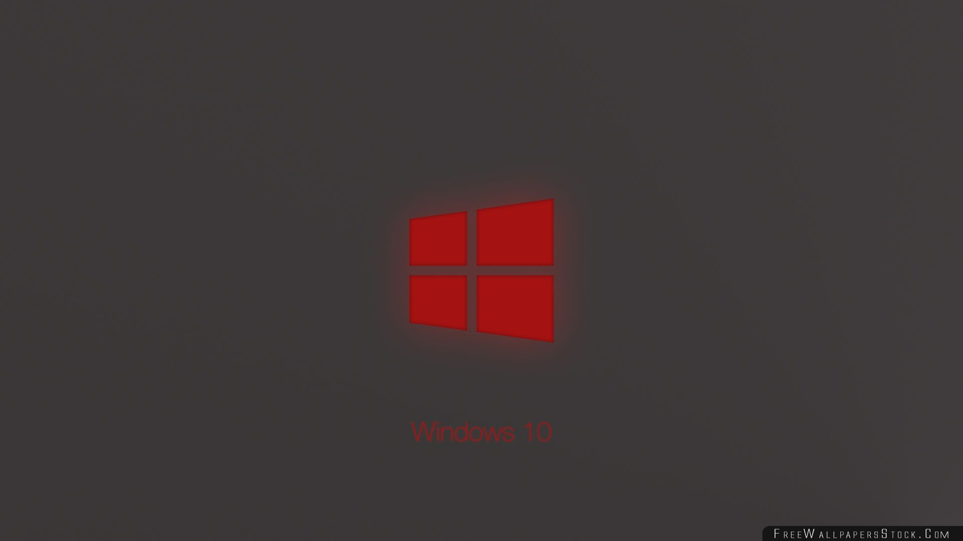Download Free Wallpaper Windows Technical Preview Red Glow