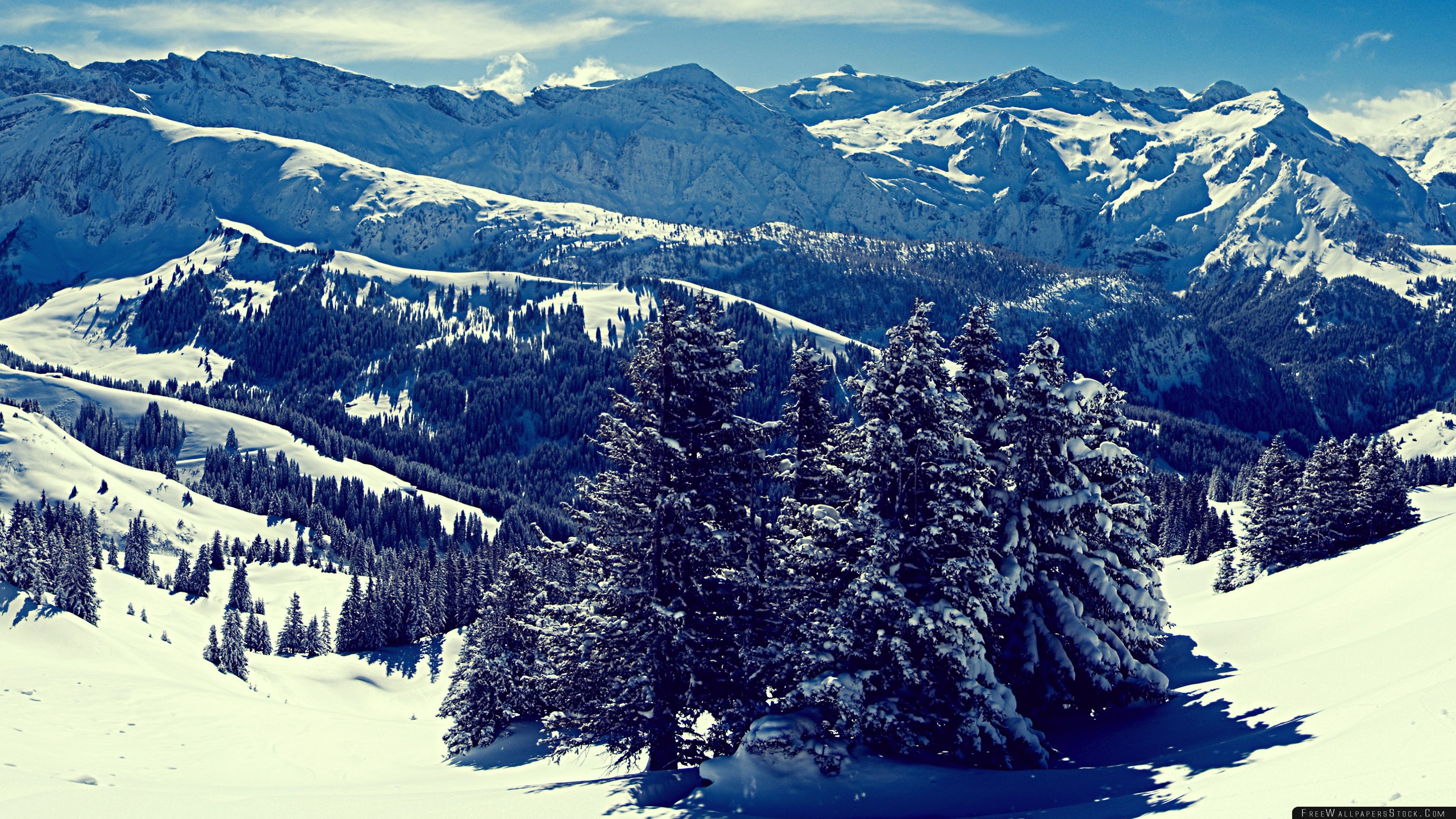 Download Free Wallpaper Winter Mountain Landscape