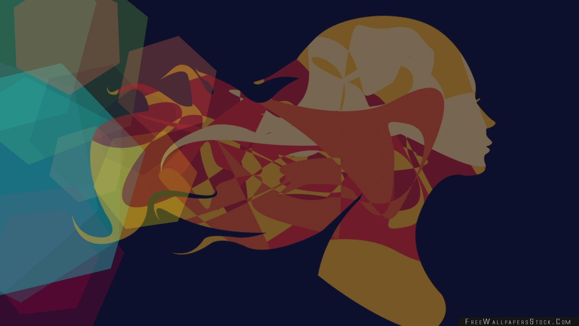 Download Free Wallpaper Women Abstract