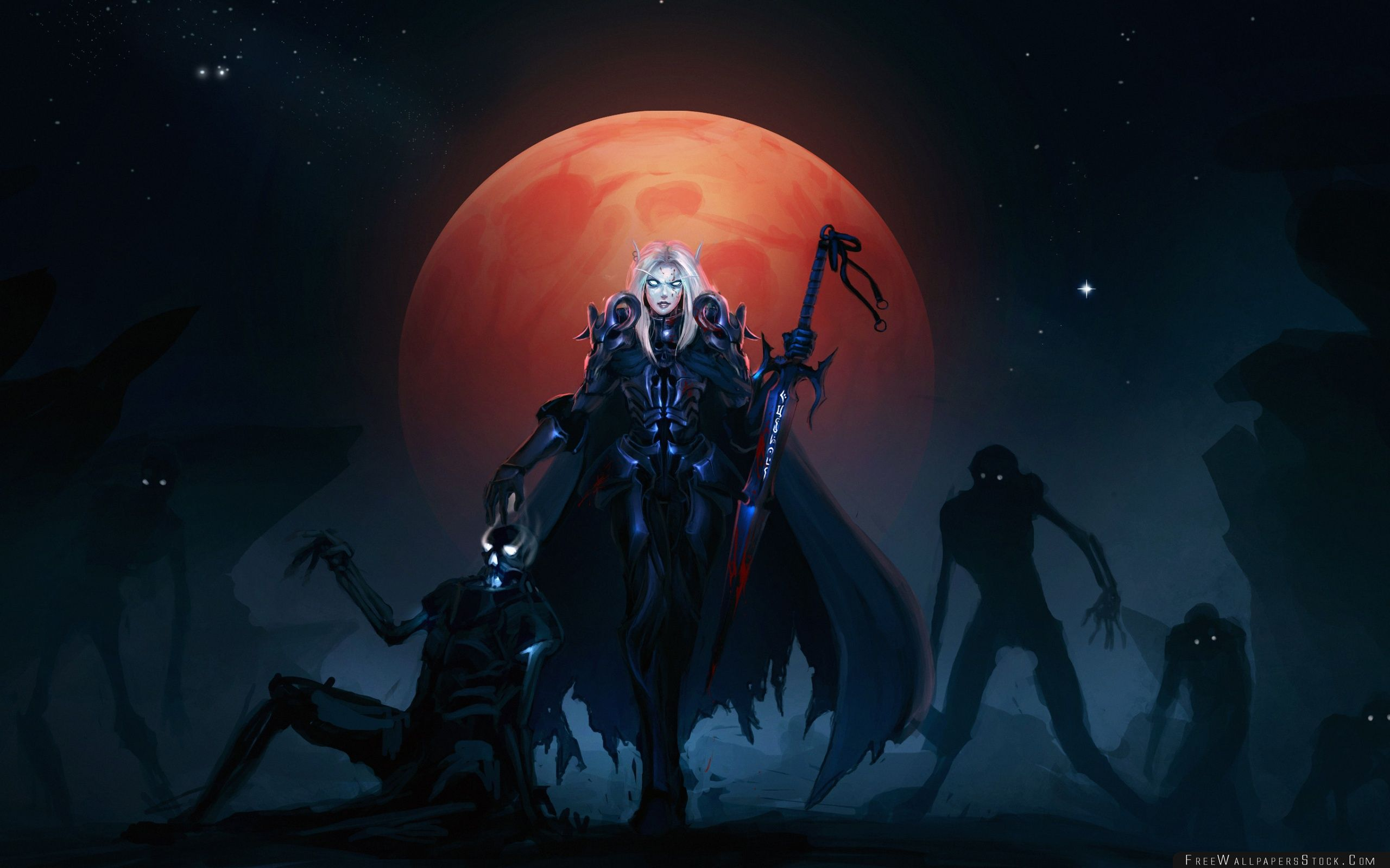 Download Free Wallpaper Wow Death Knight Blood Elves