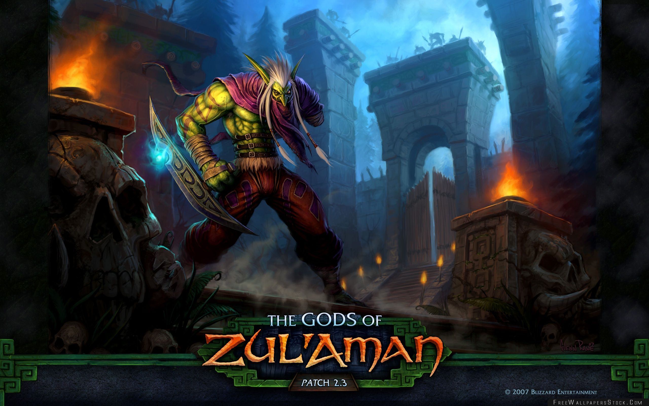 Download Free Wallpaper Wow The Gods   Zulaman