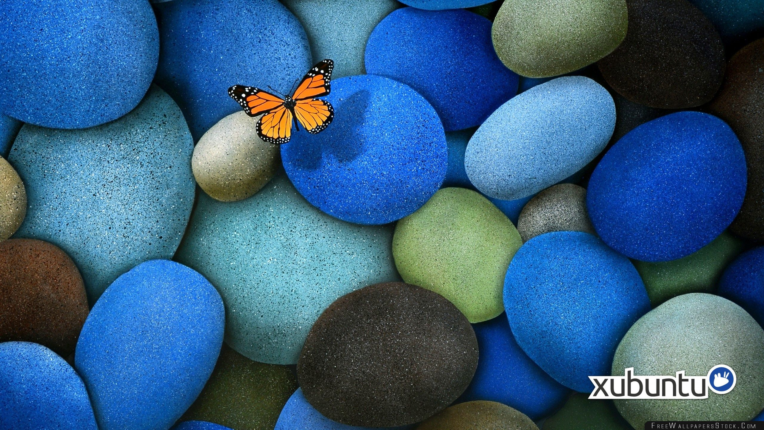Download Free Wallpaper Xubuntu Blue Rock