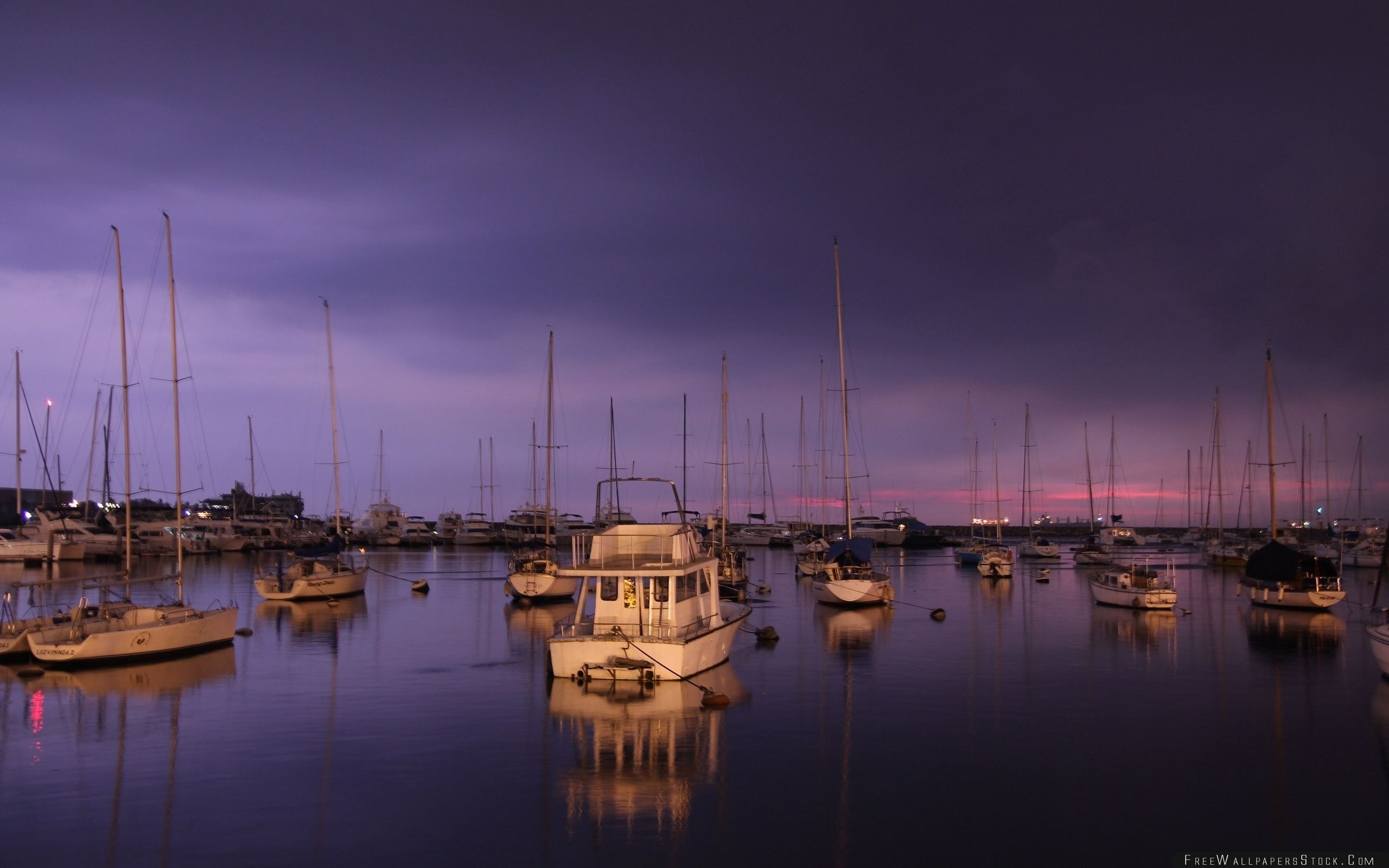 Download Free Wallpaper Yachts Evening