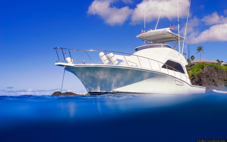 Download Free Wallpaper Yacht Clear Blue Ocean