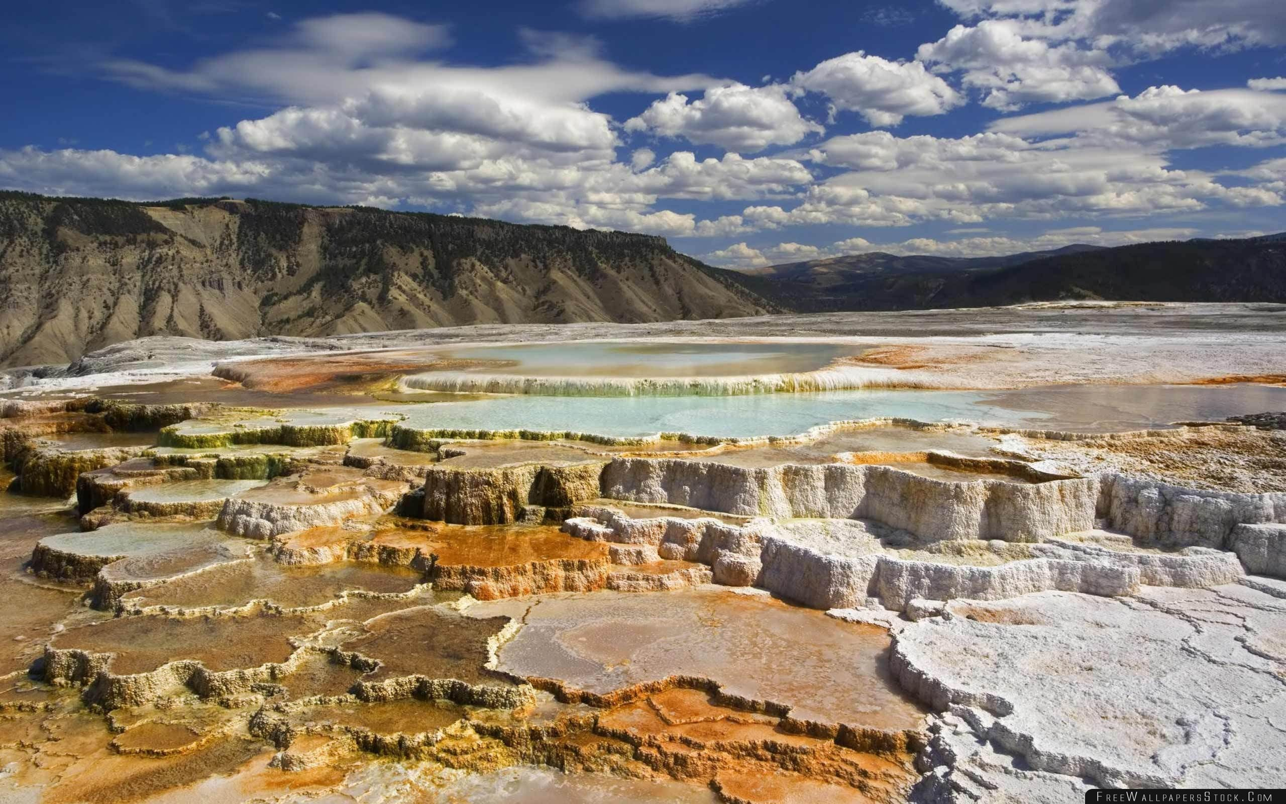 Download Free Wallpaper Yellowstone National Park Chalk Terraces