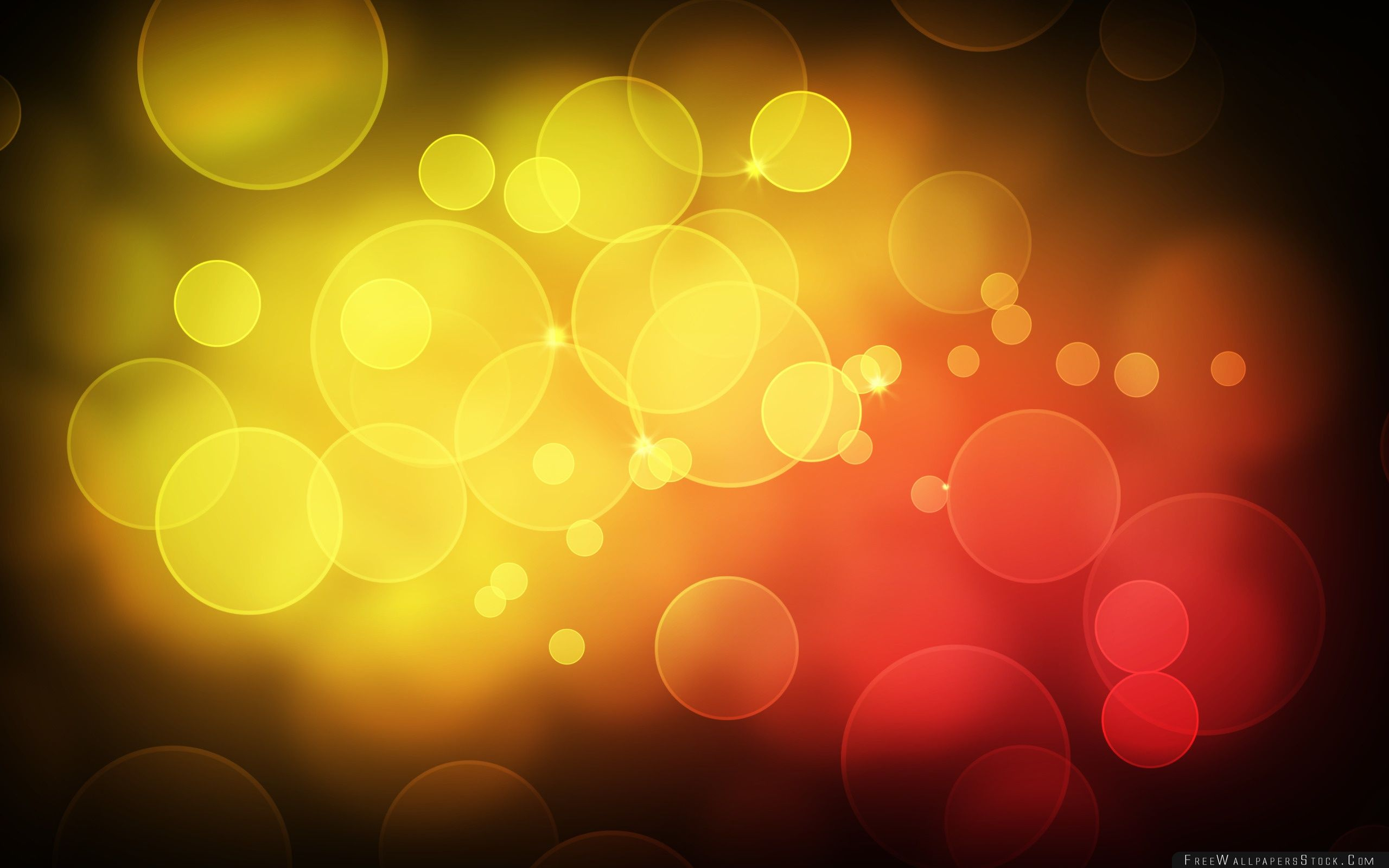 Download Free Wallpaper Yellow Red Bubbles
