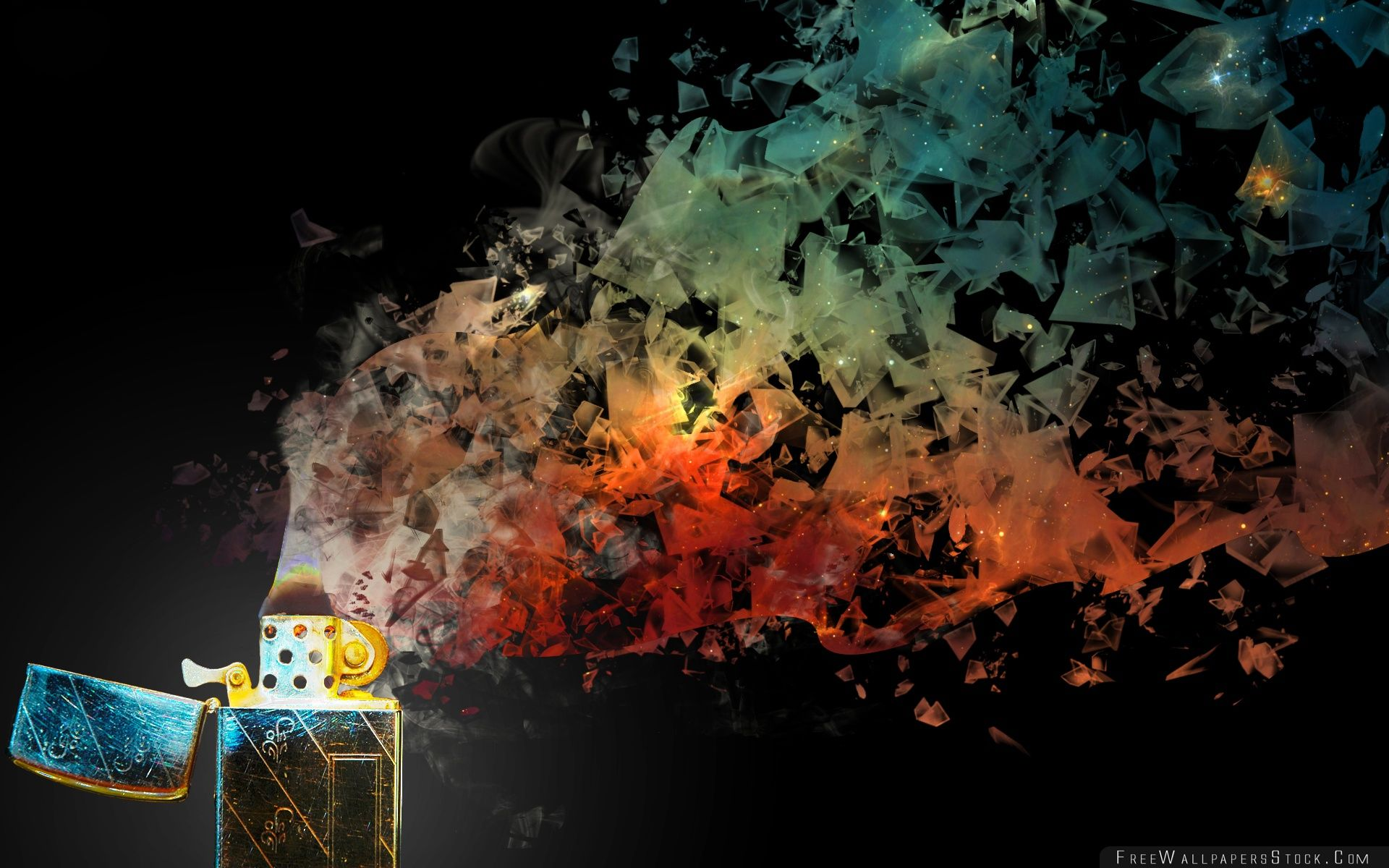 Download Free Wallpaper Zippo Lighter Abstract