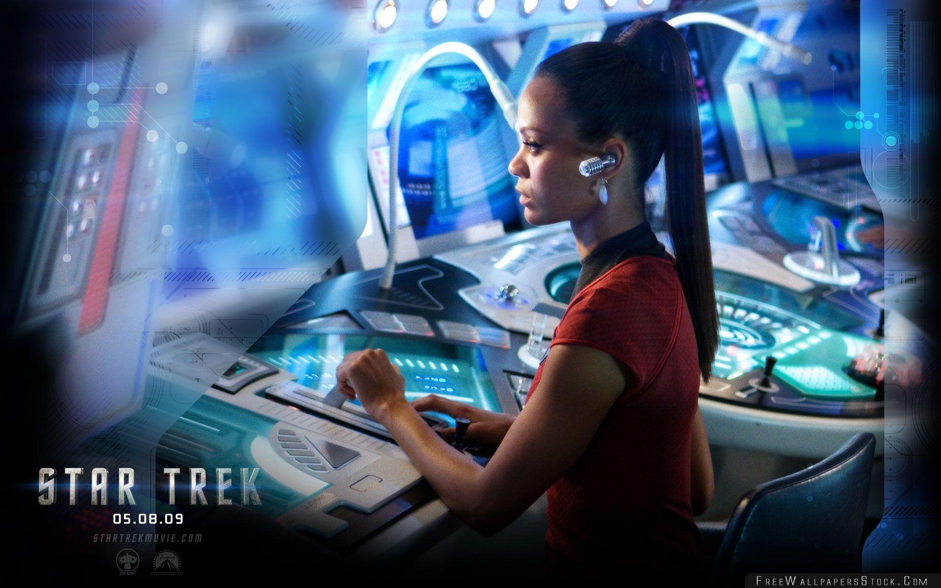 Download Free Wallpaper Zoe Saldana   Star Trek