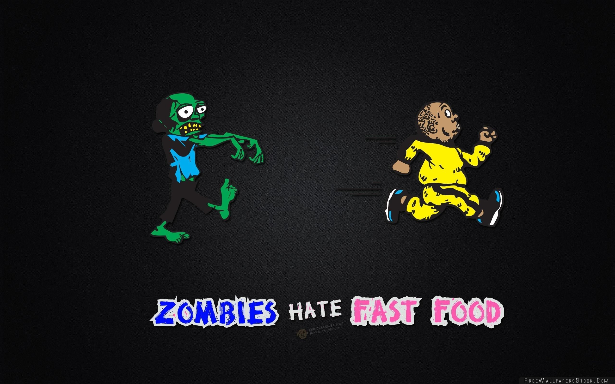 Download Free Wallpaper Zombies Hate Fast Food