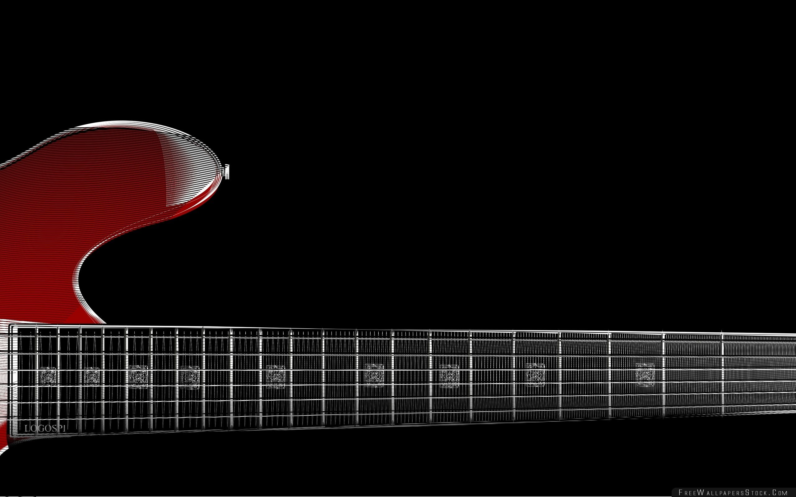 Download Free Wallpaper Zoom Red Guitar