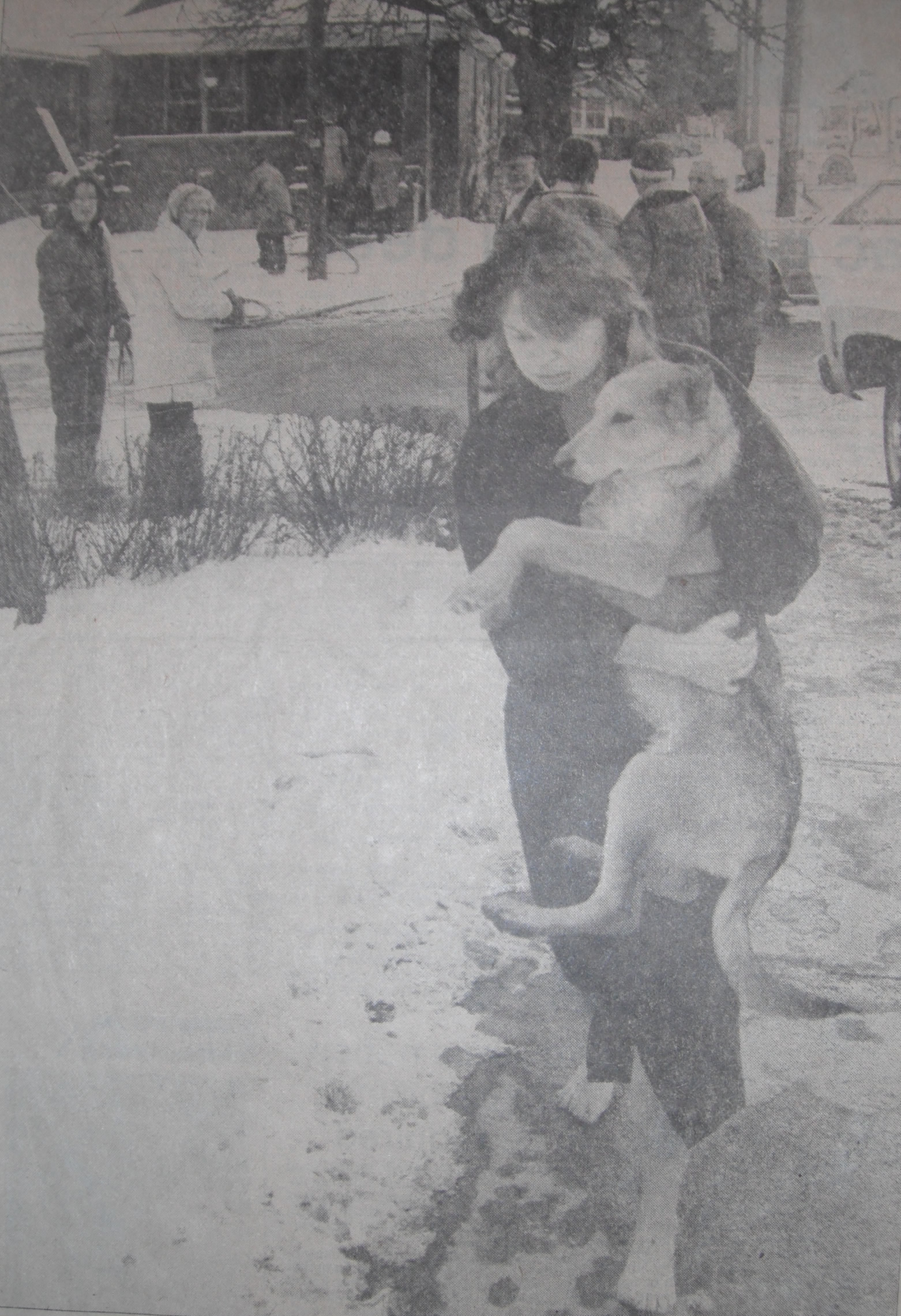 Catherine Barnes fled bare footed with her dog, escaped the blaze.