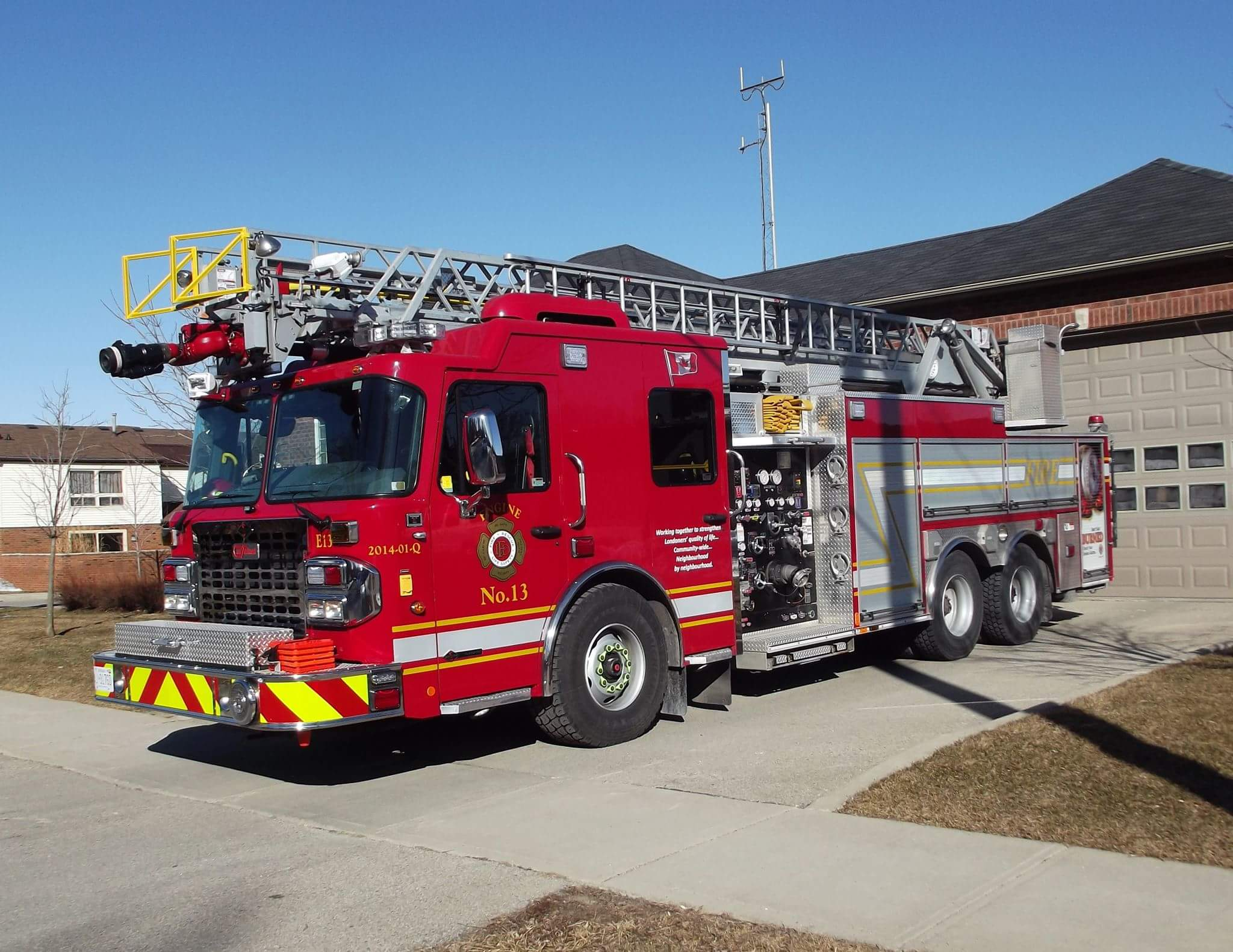 Full driver's side photo of Engine 13
