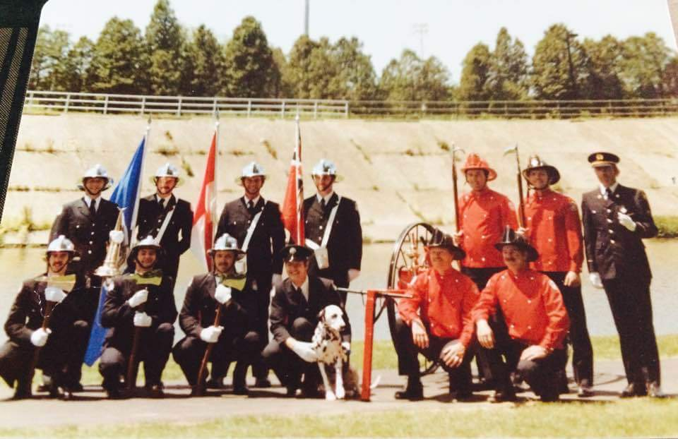LPFFA Colour Guard posing at the Thames River