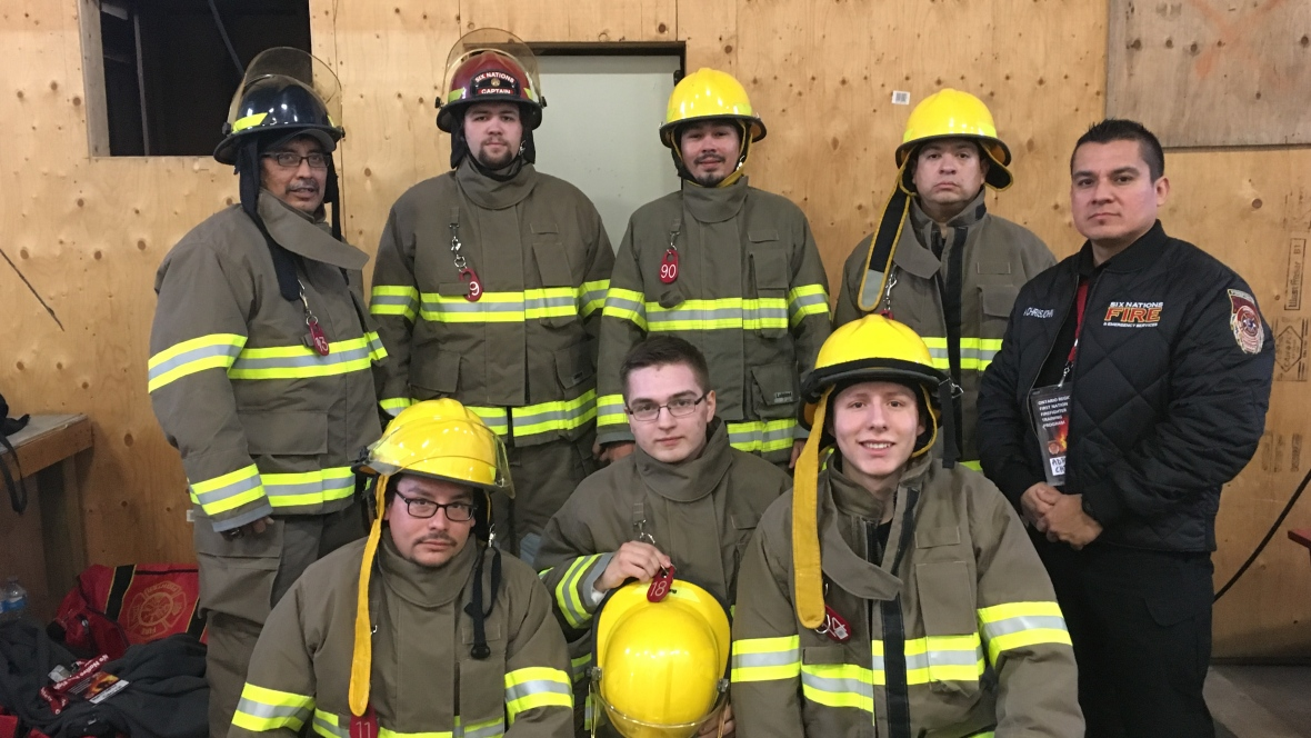 Fire Fighters posing for a class photo