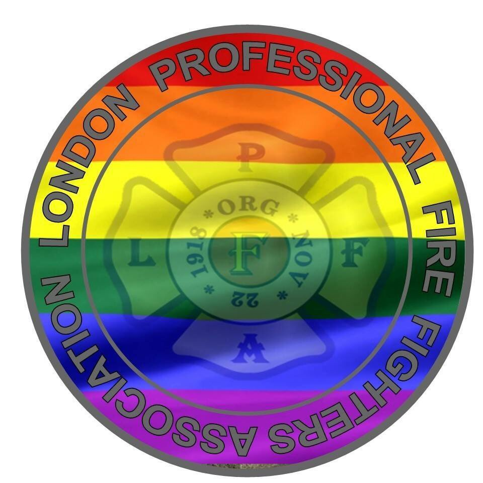 LPFFA logo with pride flag