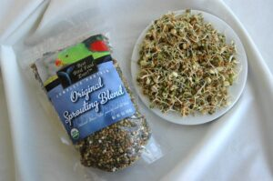 The Best Bird Food Ever! Complete Protein Sprouting Blend and at 3 days growth-ready to feed.