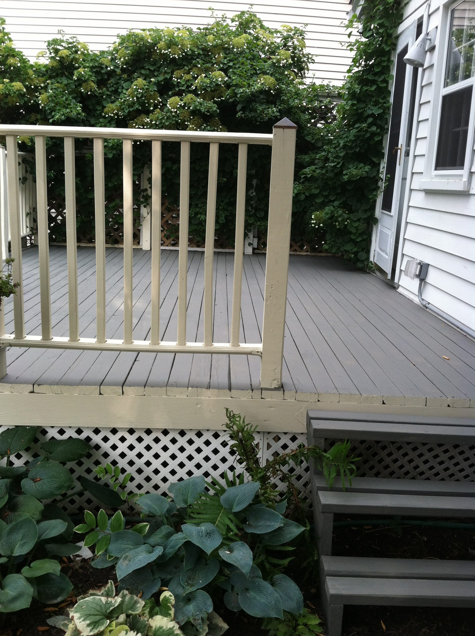 After: Bay Village Wooden Deck - Pressure Washing & Painting