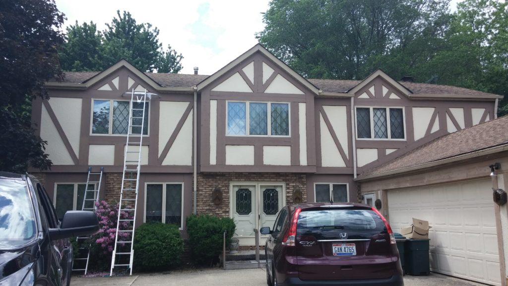 Exterior Painting for Tudor Home in Westlake, OH