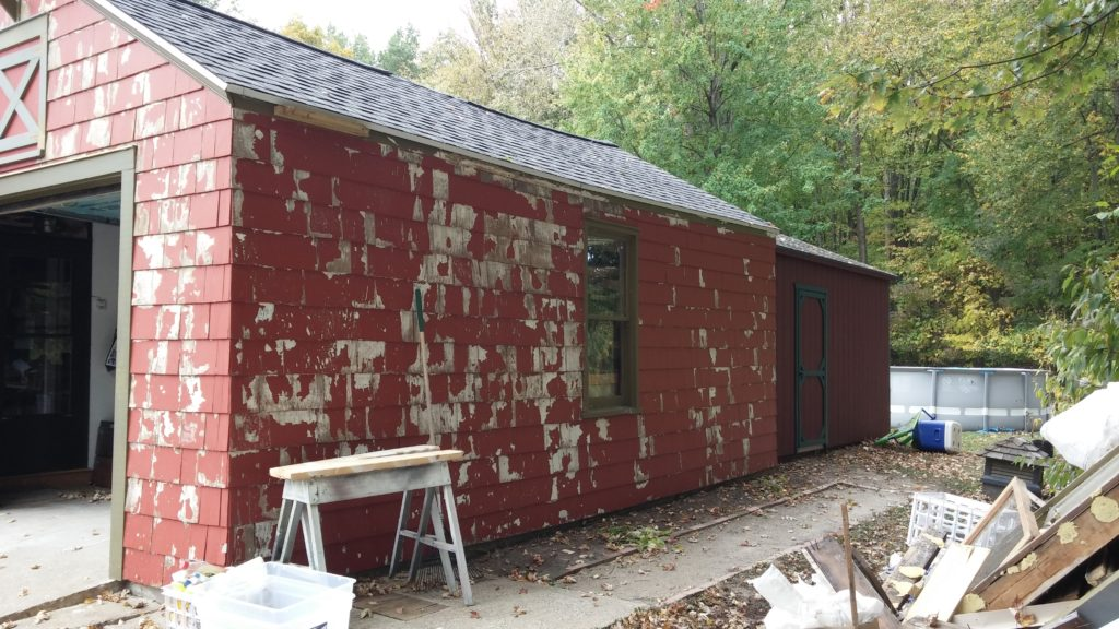 Before Pictures - Exterior Painting Job: Wood Shingle Siding