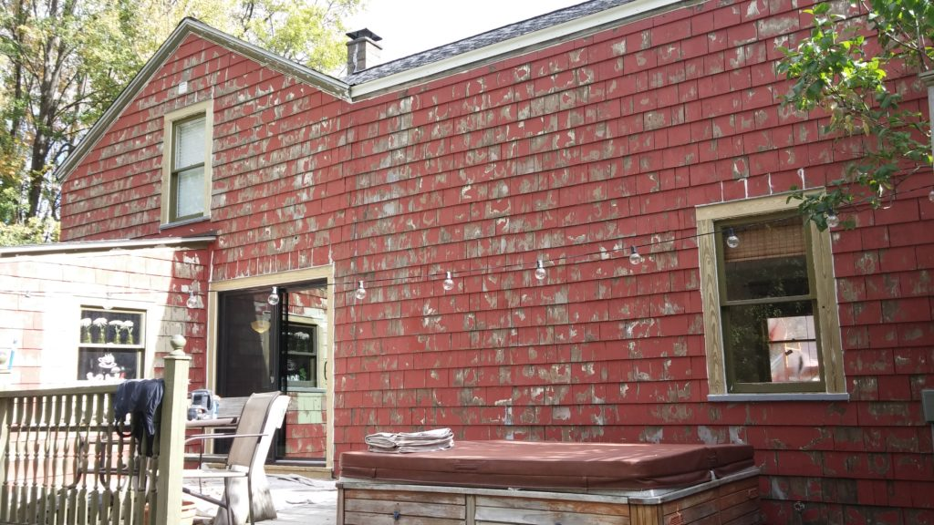 Before Pictures - Exterior Painting Job: N. Ridgeville Farmhouse