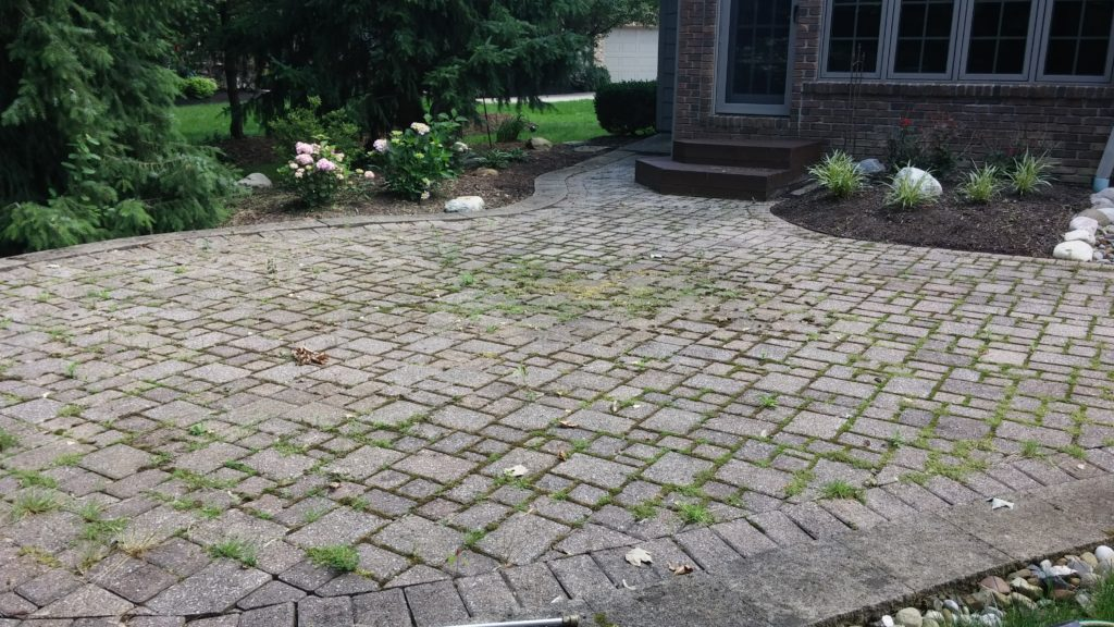 Before - North Olmsted Power Washing of a Rear Brick Patio