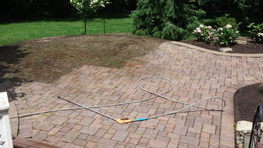 During - Partial Power Washed Patio in North Olmsted