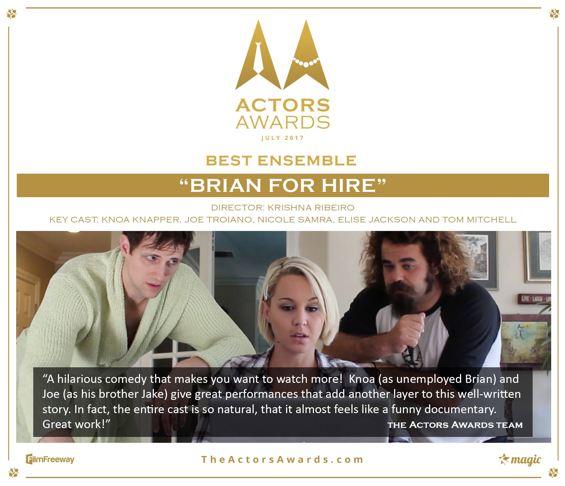 Brian for Hire Update