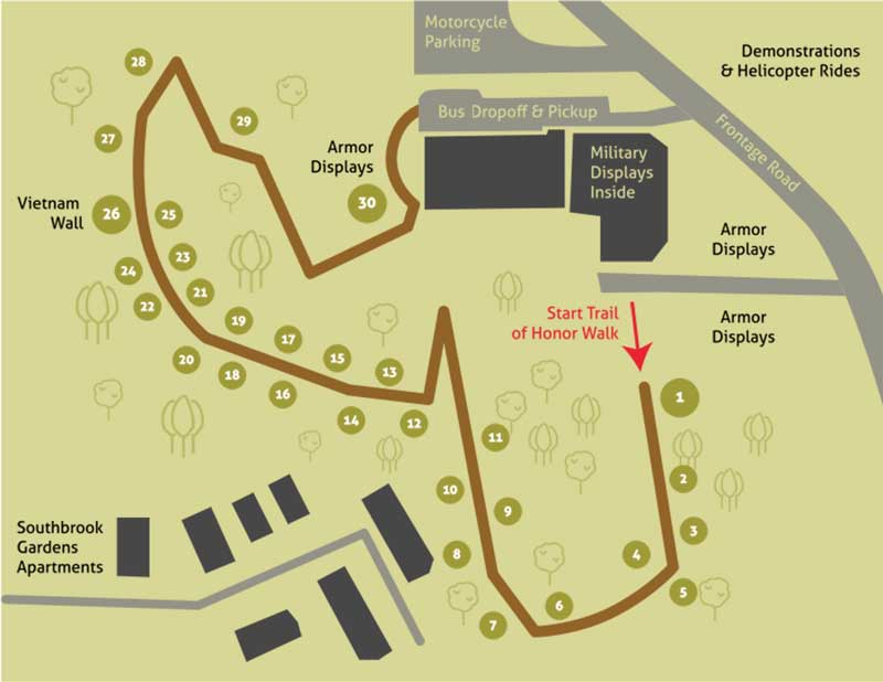 Trail of Honor Map