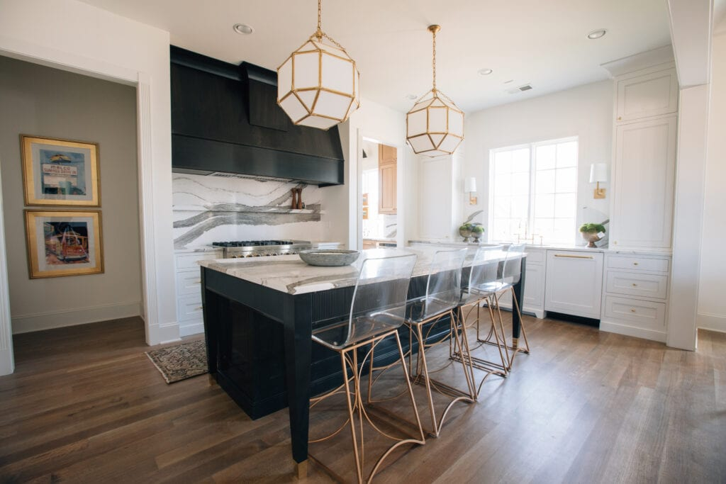 White Walls, Ceiling, and Trim in a Kitchen