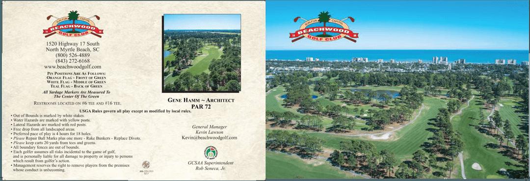 Front of Beachwood Golf Club scorecard