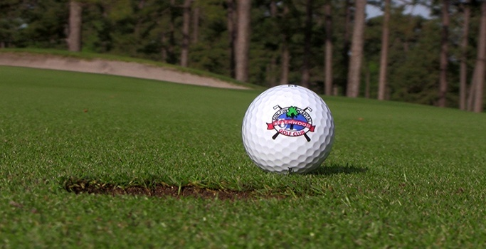 Beachwood golf ball on putting green of north myrtle beach golf courses