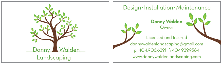 Danny Walden Landscaping biz card