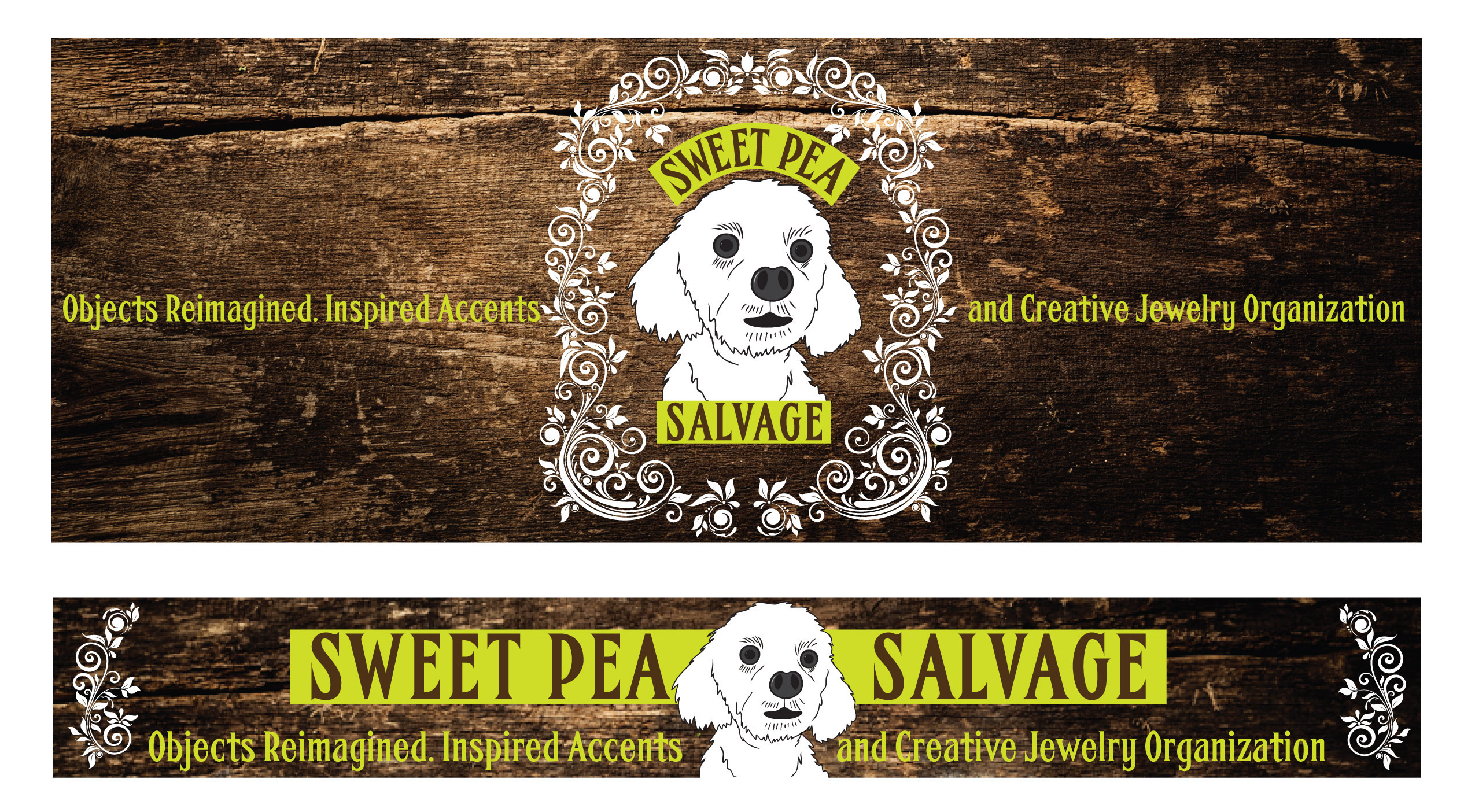 Sweet Pea Salvage Banners