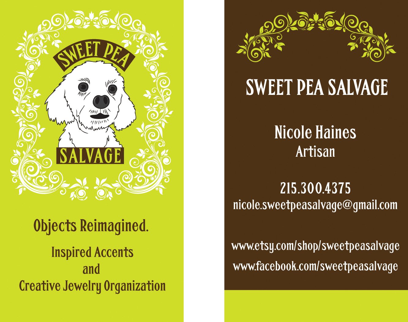 Sweet Pea Salvage business card