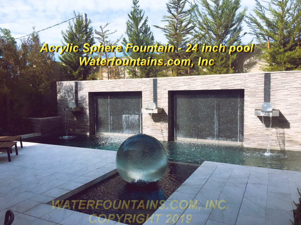 ACRYLIC SPHERE FOUNTAIN - 005