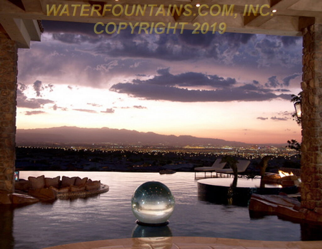 ACRYLIC SPHERE FOUNTAIN - 022