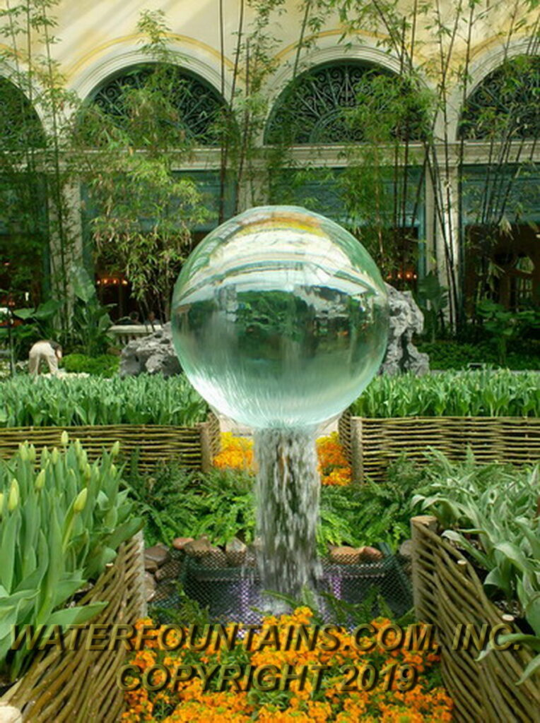 ACRYLIC SPHERE FOUNTAIN - 027