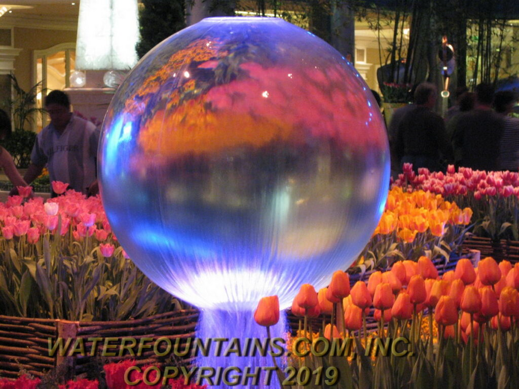 ACRYLIC SPHERE FOUNTAIN - 029